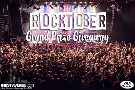 Grand Prize Giveaway - enter the current s first avenue rocktober grand prize giveaway the current