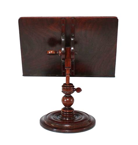 Table Top Stand by Walnut Table Top Pedestal Book Rest Reading