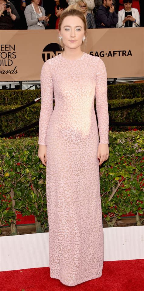saoirse ronan underwhelms in sequins eric wilson s top 10 best dressed at the sags instyle com