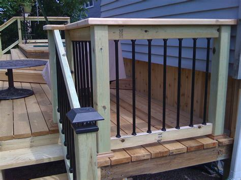 decking banister metal balusters for deck railings autumnwoodconstruction