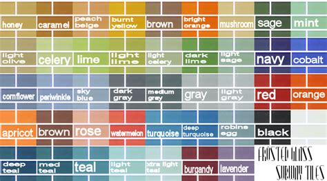 subway tile colors mod the sims frosted glass subway tiles 44 colors