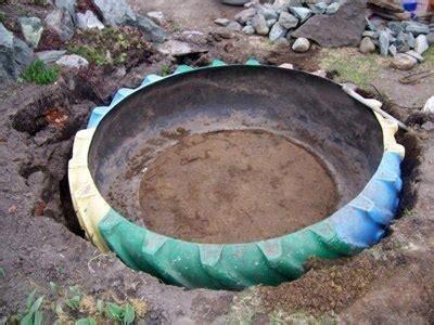bahceye bir fikir eski araba lastiginden sues havuzu