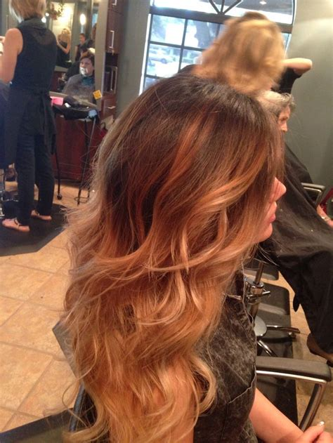 blonde to caramel brown drastic and blended ombr 233 from dark deep brown to caramels