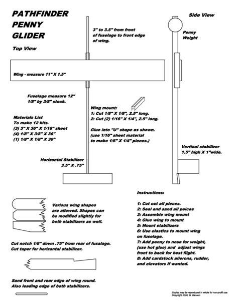 glider balsa wood plans blueprints  diy