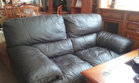 Second 2 Seater Leather Sofa by New2you Furniture Second Sofas Sofa Beds For The