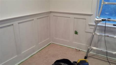 Wainscoting Top Cap Molding by Dan S Storage Room Molding Makeover The Of Moldings
