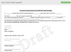 Sample Consent Letter For Minor Passport parental consent form for passport passport for minor consent