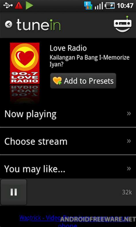 tunein radio app android free tunein radio android