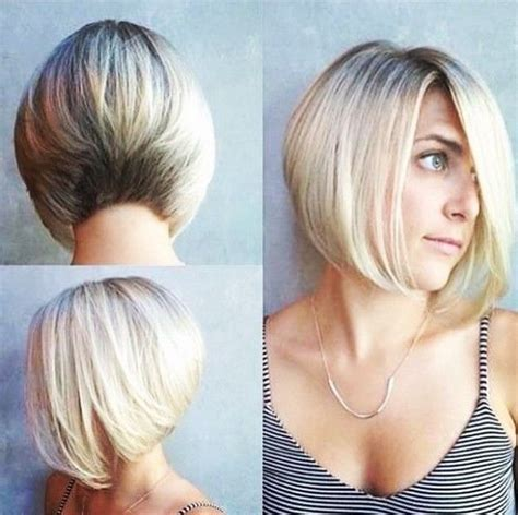 what hairstyles can be done with a bald spot in the top of head 20 sexy stacked haircuts for short hair you can easily