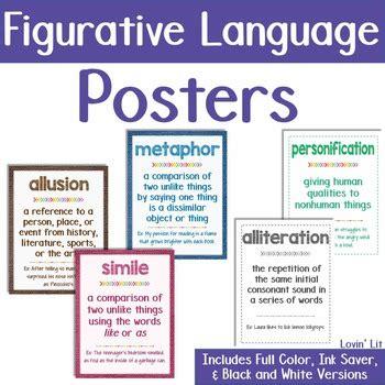 printable figurative language poster figurative language football sunday skill of the week