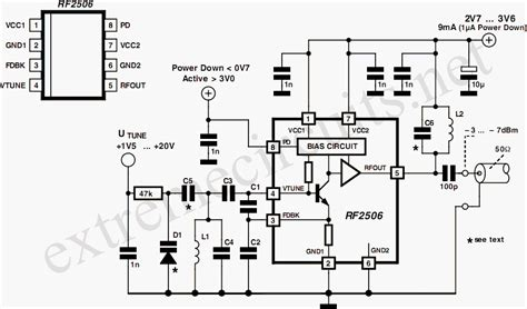 integrated circuit vco 10 to 1000 mhz oscillator circuit diagram
