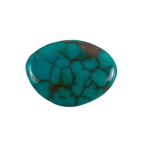 Naturl Turquoise Stabilized stabilized turquoise gemstone cabochon freeform 28x37mm