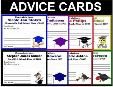 Word Graduation Advice Card Template by 20 Personalized Graduation Advice Words Of Wisdom Cards