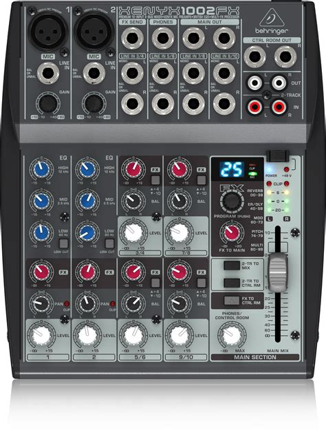 Mixer Behringer Xenyx 1002 Fx 1002fx analog mixers mixers behringer categories