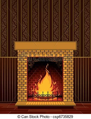 Fireplace Graphic by Eps Vectors Of Fireplace With Luxury