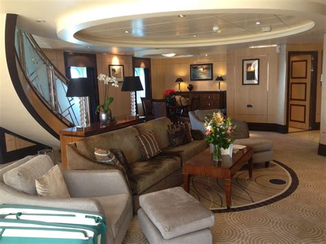 Apartment Inside by Queen Mary 2 Queens Grill Versus Msc Preziosa Yacht Club