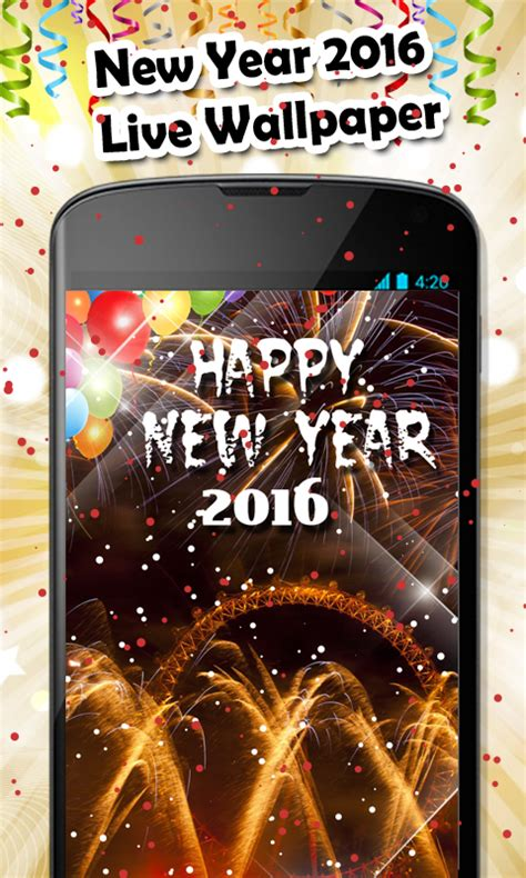 android wallpaper new year new year 2016 live wallpaper download and install android