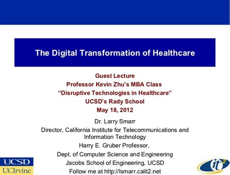 Digital Health Mba by The Digital Transformation Of Healthcare