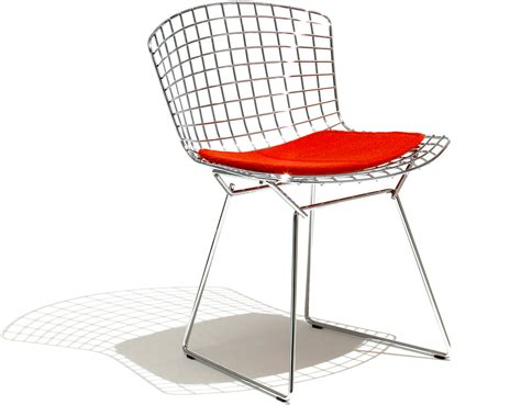 sedie bertoia bertoia side chair with seat cushion hivemodern