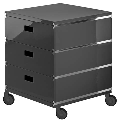 Drawers On Wheels by Plus Unit Mobile Container 3 Drawers On Wheels Grey