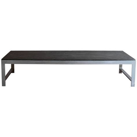 Large Fine French 1970s Metal And Slate Coffee Table For Slate Coffee Table