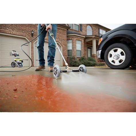 ryobi pressure washer water broom   surface cleaning