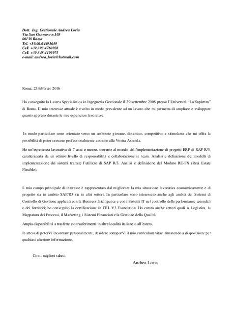lettere presentazione cv lettera di presentazione cvandrealoria