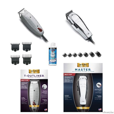 Andis Hair Dryer Comb Attachments andis master clipper t outliner trimmer attachment combs