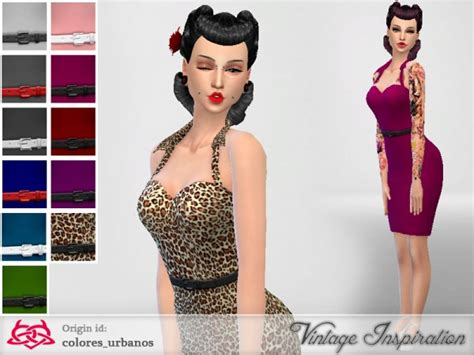 Vintage Home Decor Websites by The Sims Resource Pin Up Dress 01by Colores Urbanos