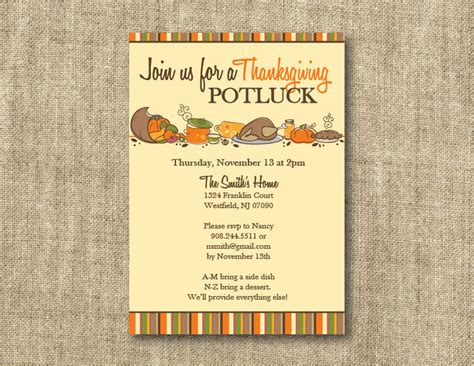 Free Thanksgiving Invitation Templates by Thanksgiving Potluck Invitation Templates Happy Easter
