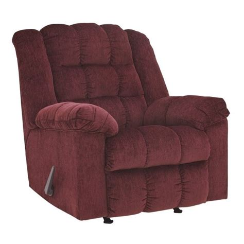 burgundy recliner chair signature design by ashley furniture ludden rocker