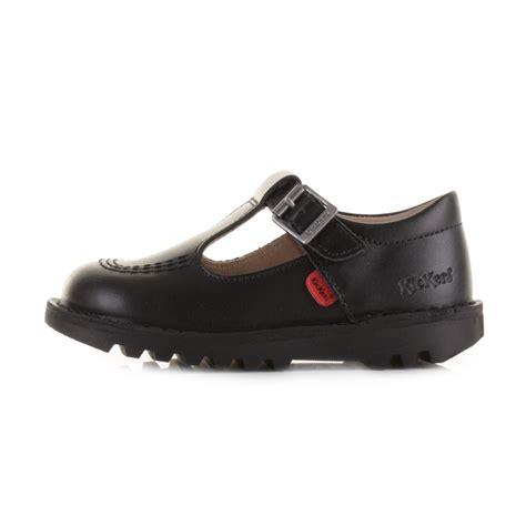 kickers toddler sandals kickers kick t infant black leather t bar
