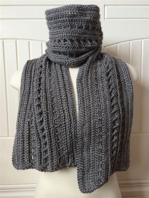 crochet scarf pattern backwoods boyfriend scarf 2 in 1