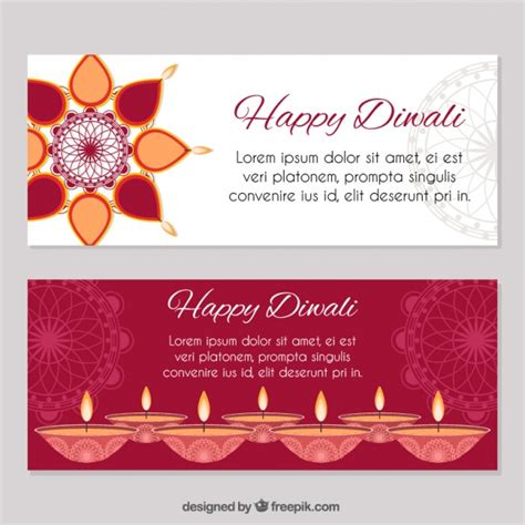 banner design deepavali diwali banner pack vector free download