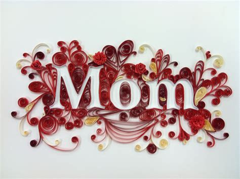 Handmade Paper Quilling - quilling framed for mothers day handmade paper