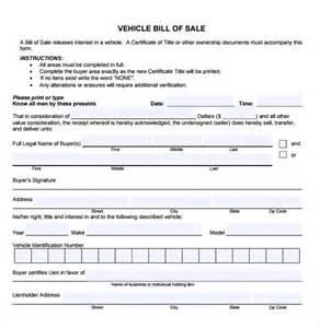 pin free car bill sale template on pinterest