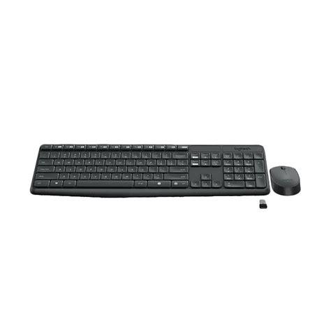 jual logitech mk235 wireless combo keyboard mouse black