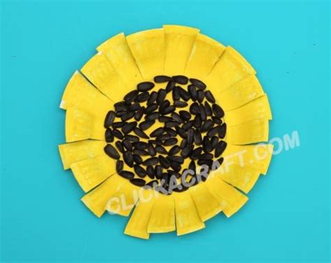 Paper Plate Sunflower Craft - paper plate sunflower click on image to see step by step