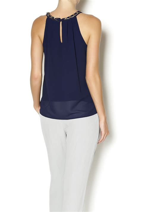 Letter Halter Top letter chiffon halter top from naples by bio new york