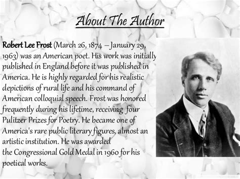 robert frost biography for students the road not taken by robert frost powerpoint presentation
