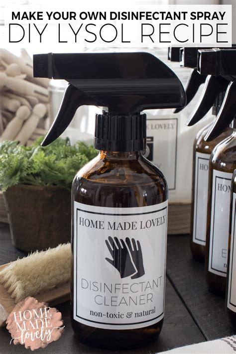 disinfectant spray diy lysol recipe