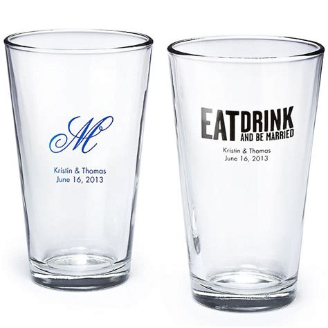 Wedding Favor Pint Glasses by Personalized Pint Glass Wedding