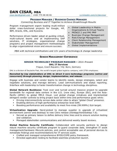 Sample Resume For Preschool Teacher by Change Management Resume Best Resume For You