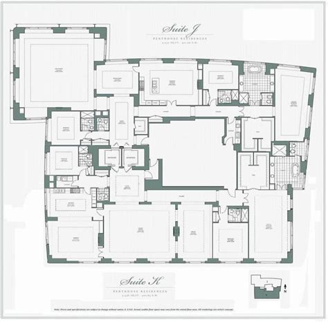 penthouse floor plan penthouses in chicago floor plans am uncertain if this