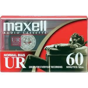maxell audio cassette maxell normal bias ultrium audio cassette 109010 b h