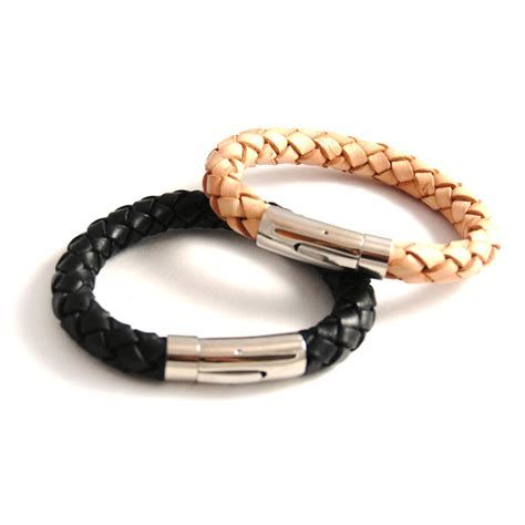 leather bracelets braided leather bracelets