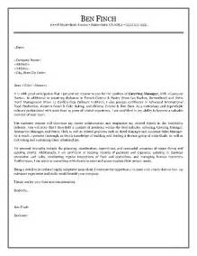 Cover Letter For Hospitality Industry by Hospitality Cover Letter