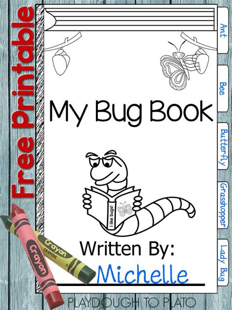 science bug pupil book free printable bug book backyards kid and science