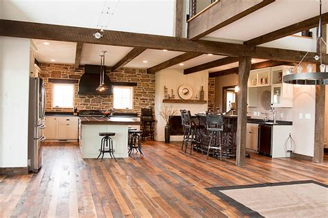 farmhouse floors building with reclaimed wood and tin farmhouse kitchen dc metro by shenandoah