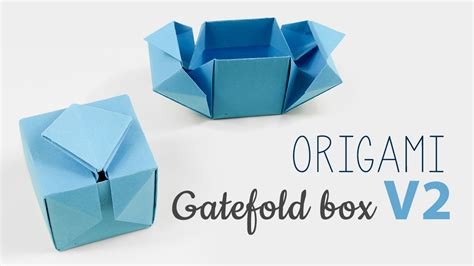 How To Make A Package Out Of Paper - origami gatefold box tutorial v2 diy